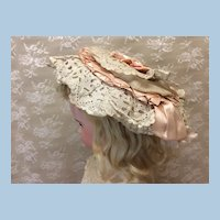 Original French Antique Bonnet