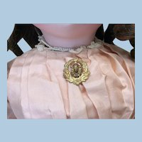 Small Antique C Clasp Pin for Doll