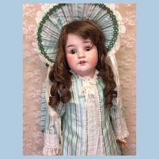 """29"""" German Child Beautifully Dressed Bisque Doll"""