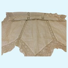 Large Antique Lace Trimmed Apron for Sewing Doll Dresses