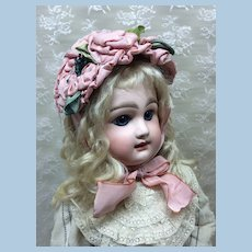 Stunning Wired Ribbonwork Bonnet for Antique Doll