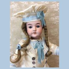"German Child 21"" Antique Bisque Doll in Nautical Ensemble"