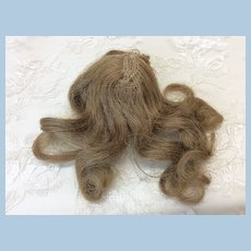 """Tiny 4"""" Vintage Human Hair Wig for Mignonette All Bisque"""