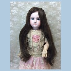 "13"" Extra Long Human Hair Wig For Doll"