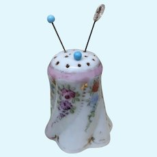 Antique Hand Painted Hat Pin Holder for Fashion Doll