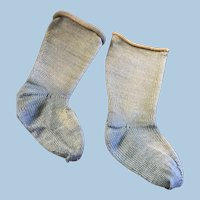 Antique Blue Doll Socks