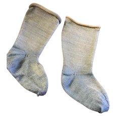 Antique Blue Doll Socks