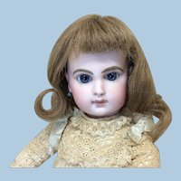 "7"" Lt Brown French Human Hair Wig for Doll"