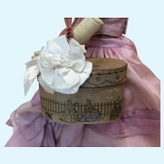 Antique Candy Container Hat Box for French Fashion Doll