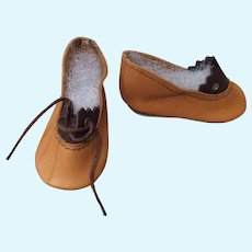 """2 1/4"""" Leather Doll Shoes Replacements"""
