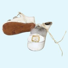 """Pretty All Leather Replacement Shoes 2 1/2"""""""