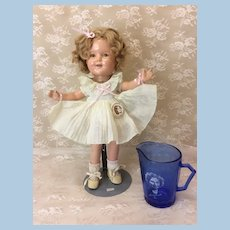 "Vintage Ideal 13"" Shirley Temple w/ Pitcher"