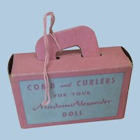 Vintage Madame Alexander Comb & Curlers Box w/Curlers Cissy or Other
