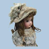 Stunning  Smaller Antique Original French Silk Bonnet