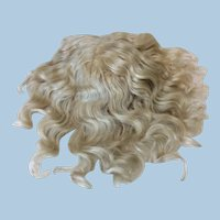 "13"" Antique Pale Blonde Mohair Hand Tied Wig"