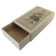 Small Early Paper Covered Box for Doll Items