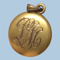 Tiny Antique Engraved Baby Pendant For Doll