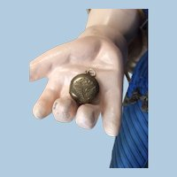 Tiny Antique Engraved Baby Locket For Doll