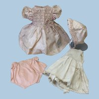 WOW Tagged Poupee Jumeau Original 4 Pc Outfit Bebe Toddler Baby Doll