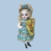 """Tiny 3"""" Jointed Mohair Teddy Bear for Doll"""