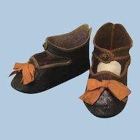 Antique Original Sz 11 Bee Stamp Jumeau Shoes