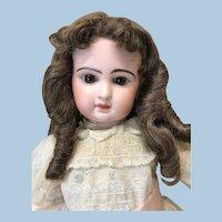 """Vintage 12"""" Brunette Human Hair Blend Wig"""