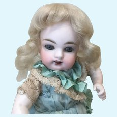 """4-5"""" Replacement Pale Blonde Mohair Wig Mignonette All Bisque Doll"""
