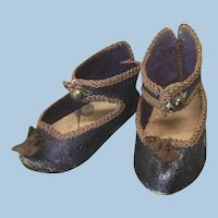 Original Sz 6 Bee Stamped Jumeau Shoes