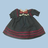 Small Original Antique French Mariner Style Dress Hand Sewn