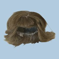 "5"" Vintage Human Hair Wig for Doll Mignonette All Bisque"