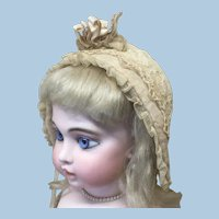 Antique French Style Bonnet For Doll