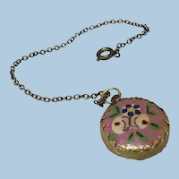 Hand Painted Watch on Chain for French Fashion or Other Doll