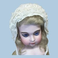Early Lace Covered Bonnet for Doll