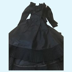 Black Mourning Gown for Large French Fashion Doll