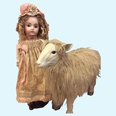 Large Wooly Sheep for Doll Display