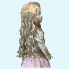 "Extra Long 15"" Golden Blonde Human Hair Wig"