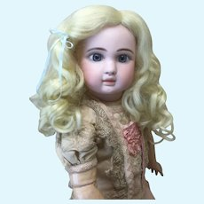 "15"" Pale Blonde Synthetic Mohair Wig"