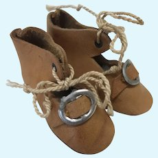 """2 1/4"""" Leather Replacement Doll Shoes"""