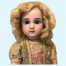 "14"" Pale Blonde Antique Mohair Wig"