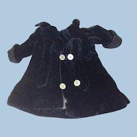 Lovely Small Antique Velvet Coat For Doll