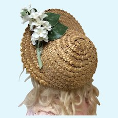 Early Woven Straw Hat for Bebe