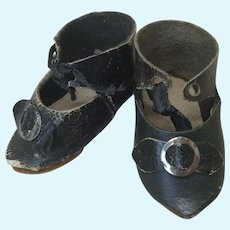 """Antique 2"""" French Shoes for Doll"""