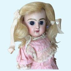"7"" Antique Pale Blonde Mohair Wig"