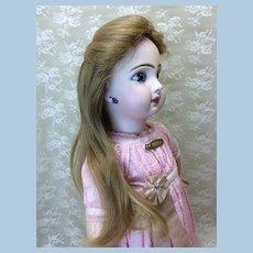 """TLC 9 1/2""""  Antique Human Hair Doll Wig"""