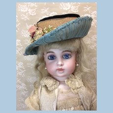Antique Lined Hat for Doll