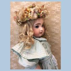 Vintage Floral Hat for Larger Doll