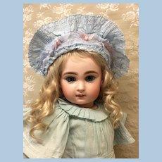 Blue Taffeta Doll Bonnet