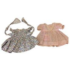 Two Vintage Dresses For Compo Hard Plastic Dolls