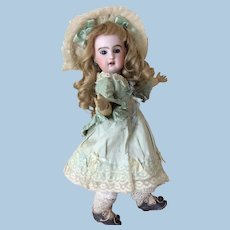 """Petite 12 1/2"""" Jumeau Bebe Antique Dress Open Mouth"""