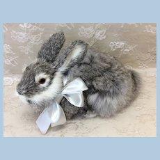 "Realistic 8"" Fur Rabbit for Doll Display"
